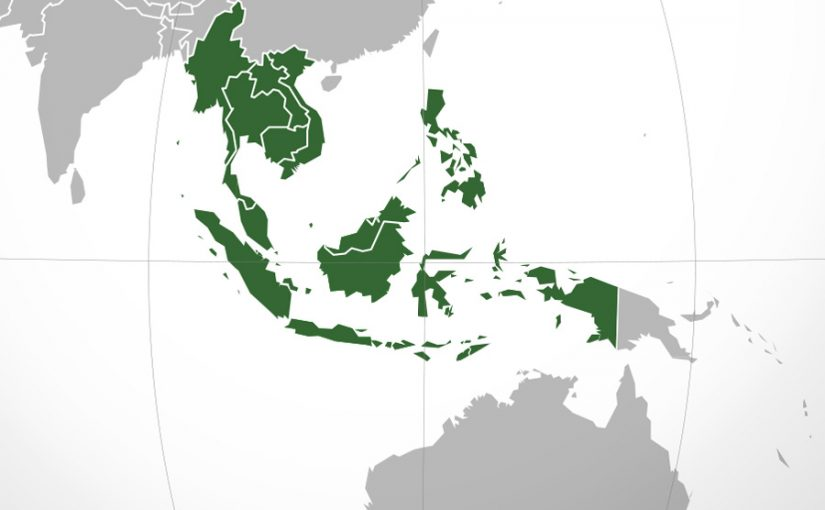 South East Asia on te map